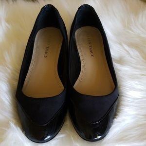 Ellen Tracy black patent leather Arron Flats